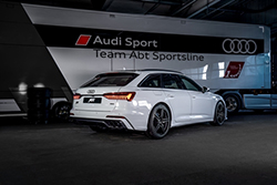 ABT Audi A6 glacier white aerodynamics package intr